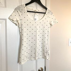 H&M Scoop Polka Dot T-Shirt